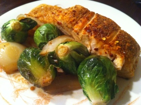 Salmon & Brussel Sprouts Served with a Side of Deception