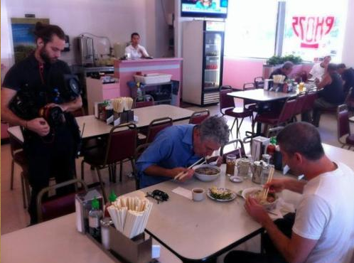 Anthony Bourdain getting his Pho on at Pho 75