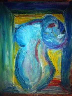 Hard Woman: A work in Acrylic &Pumice